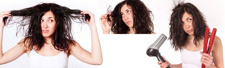 Come combattere i capelli sfibrati