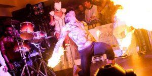 afro tribal dance, con il fuoco