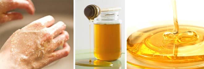 mani idratate con il miele